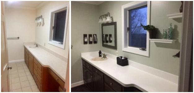 Bathroom Update Frugal Facelift - Bathroom facelift